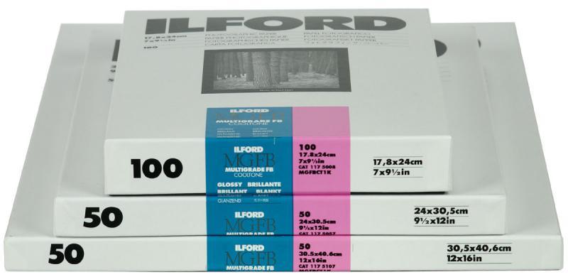 ILFORD MULTIGRADE COOLTONE 1K 20X25CM 100 BLAD