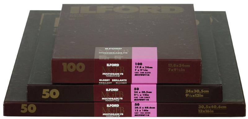 ILFORD MG WARMTONE FB 1K 13X18CM 100 BLAD
