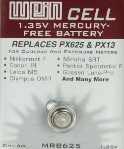 WEIN CELL ZINK-LUFT BATTERI MRB 625 1,35V