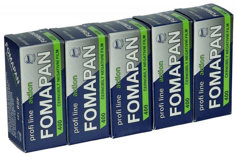 5 PACK FOMAPAN 400 ACTION 120 FILM
