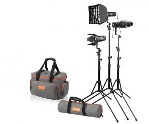 GODOX S30 FOCUSING LED LIGHT 3 HEADS KIT