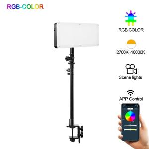 GVM 20S RGB LED VIDEO LIGHT + DESKTOP STAND