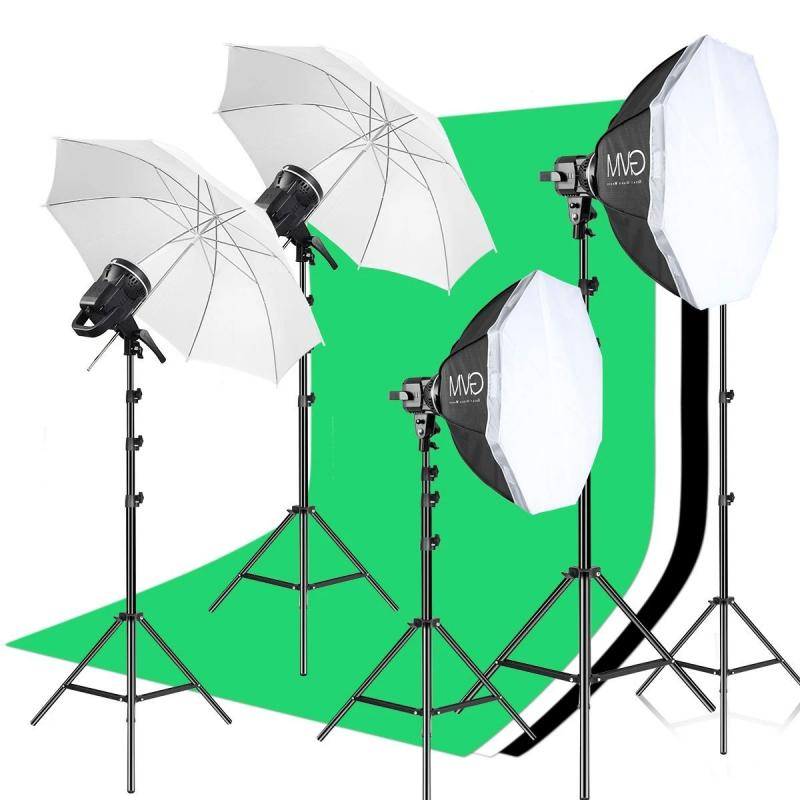 GVM P80S 4 X 80W DAGSLJUS LED STUDIO KIT