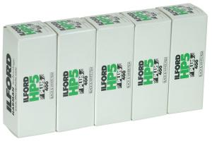 5 PACK ILFORD HP5 120 SPOLE