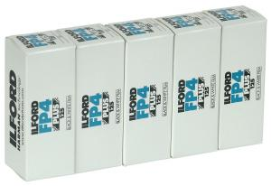 5 PACK ILFORD FP4 120 SPOLE