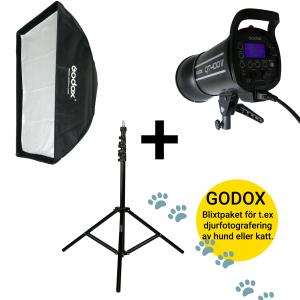 GODOX PAKET 1X QT400IIM + 1X VC8008K +1X 70X100CM
