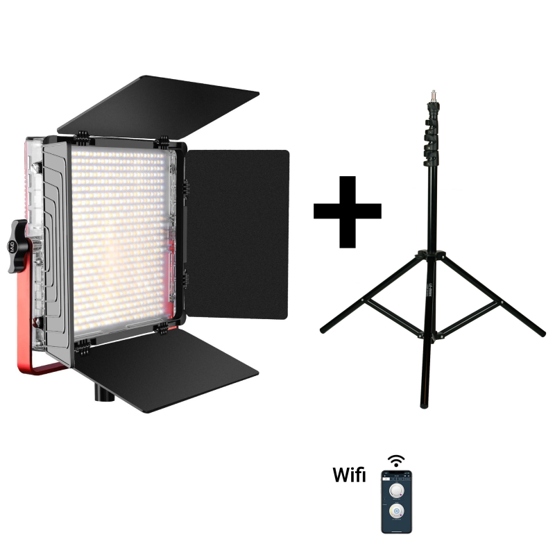 PAKET 1X GVM MB832 BI-COLOR LED + 1X VC8008K STATIV