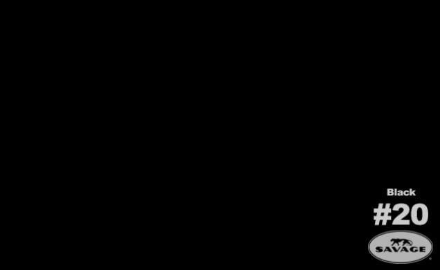 SAVAGE BAKGRUND 1,35X11M SUPER BLACK #20