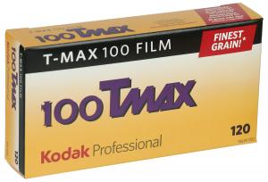 5 PACK KODAK TMAX 100 120 SPOLE