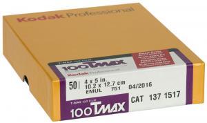 KODAK TMAX 100 4X5 50-BLAD