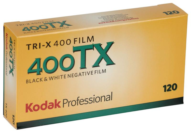 5 PACK KODAK TRI-X 400 120 SPOLE