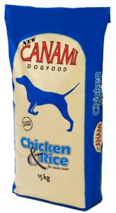 Hundfoder Kyckling & Ris 15kg Canami