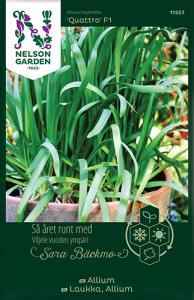 Allium av Sara bäckmo, ett året runt frö för en oändlig odlingssäsong Nelson Gar