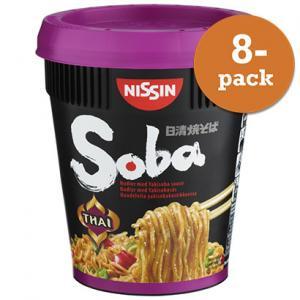 Nudlar Soba Thai Curry Nissin 8x87g