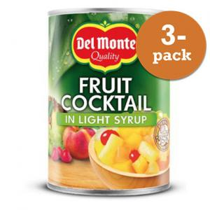 Fruktcocktail I Light Syrup 3x227g Del Monte
