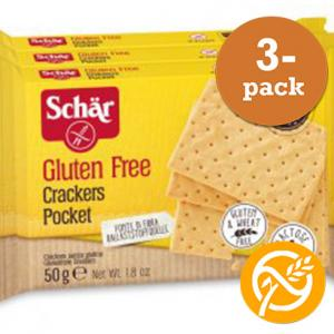 Crackers Pocket Glutenfria 3x50g Schär