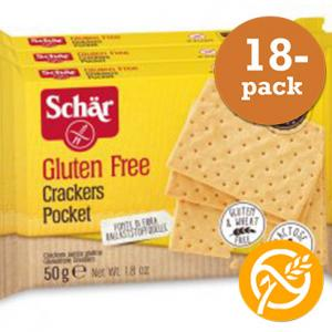 Crackers Pocket Glutenfria 18x50g Schär