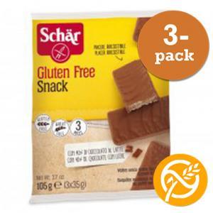 Kexchoklad hasselnöt Glutenfria 3x105g Schär