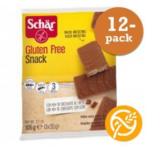 Kexchoklad hasselnöt Glutenfria 12x105g Schär