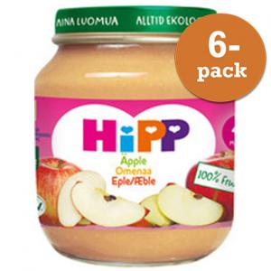 Barnmat 4 Mån Äpple Eko 6x125g Hipp