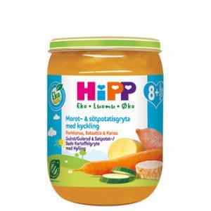 Barnmat 8-11mån 6x190g Morot, sötpotatis med kyckling Eko Hipp