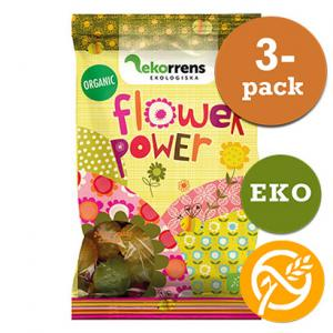 Flower Power Godis Glutenfri 3x80g EKO Ekorrens