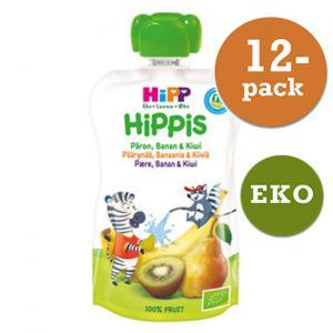 Hippis Mellanmål 6mån Smoothie Päron/Banan/Kiwi Eko 12x100g Hipp