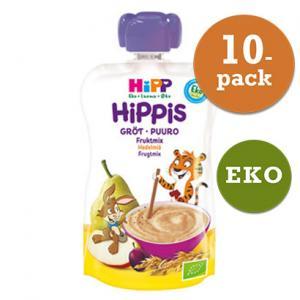 Hippis Mellanmål 6mån 10x100g Grötsmoothie Fruktmix Eko Hipp