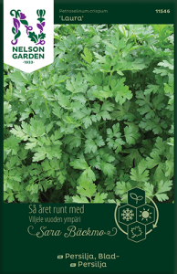Bladpersilja av Sara Bäckmo, ett året runt frö för en oändlig odlingssäsong Nels