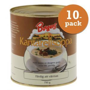 Kantarellsoppa 10x750g Borgens