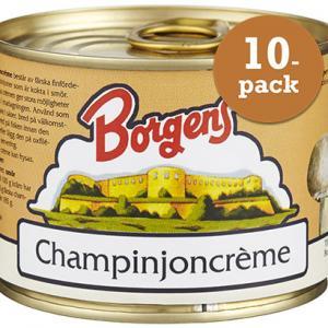 Champinjoncreme 10x185g Borgens