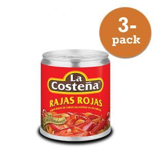 Rajas Rojas 3x220g La Costeña