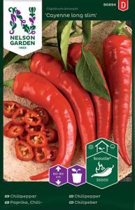 Chilipeppar Premium Frö Nelson Garden
