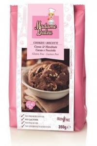 Choklad & Hasselnötskakor Glutenfri 1x350g Madame Loulou KORT HÅLLBARHET