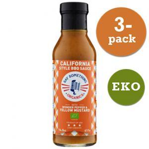 Bbq Sauce Ekologisk California Style 3x411g
