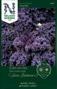 Grönkål Scarlet av Sara Bäckmo, ett året runt frö för en oändlig odlingssäsong N