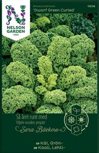Grönkål av Sara Bäckmo, ett året runt frö för en oändlig odlingssäsong Nelson Ga
