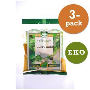 Curry Mild EKO 3x30g Gröna Bladet