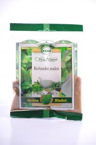Koriander Malen KRAV 12x20g Gröna Bladet
