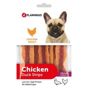 Hundgodis Chick´n Snack 1x85g kyckling/anka Flamingo KORT HÅLLBARHET