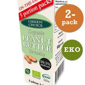 Jordnötssmör Crunchy 5pack EKO 2x90g Green Choice