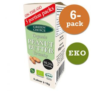Jordnötssmör Crunchy 5pack EKO 6x90g Green Choice