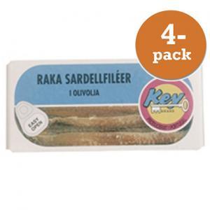 Sardeller Raka Key 4x350g