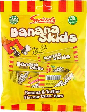 Banana Skids 24x120g Swizzels