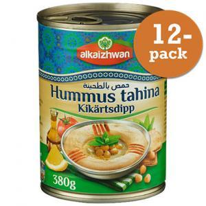 Hummus Tahina Kikärtsdipp 12x380g Alkaizhwan