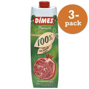 Granatäppeljuice Premium 3x1liter Dimes