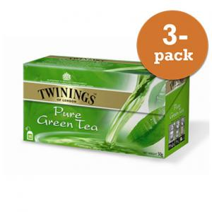 Te Pure Green Tea Twinings 3x50g