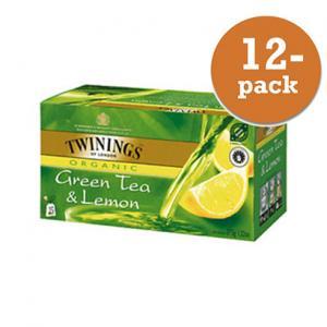 Grönt Te Med Citron Krav Twinings 12x50g