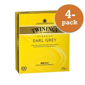 Te Earl Grey Twinings 4x100 Påsar