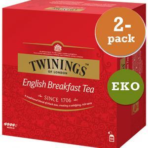 English Breakfast EKO 2x100påsar Twinings